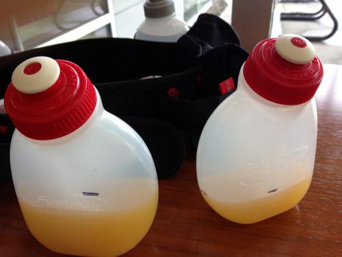 Liquid fuel (homemade sports drink) needs Garmin like I need Garmin.