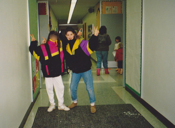 One of the few smiling moments at that school... before Dear Diabetes and I fell into a tumult of tears.