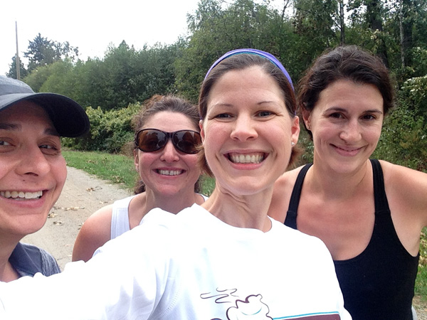 Tonight's run with my run study chickies!