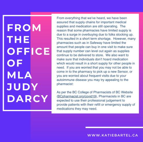 MLA Judy Darcy's Office